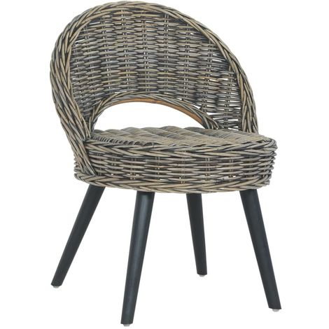 Hommoo Sofa Chair Kubu Rattan Black