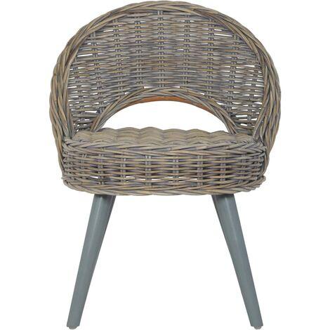 Hommoo Sofa Chair Kubu Rattan Grey QAH25460