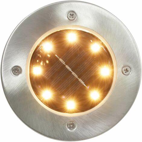 Hommoo Solar Ground Lights 8 pcs LED Lights Warm White QAH28614