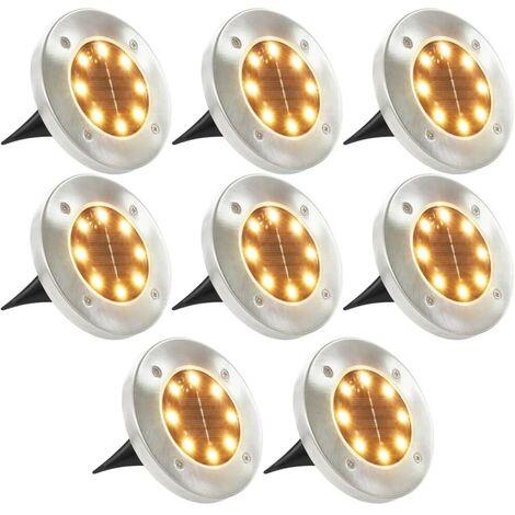 Hommoo Solar Ground Lights 8 pcs LED Lights Warm White VD28614