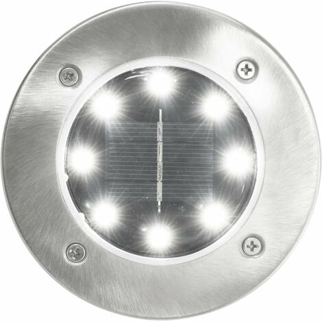 Hommoo Solar Ground Lights 8 pcs LED Lights White QAH28613