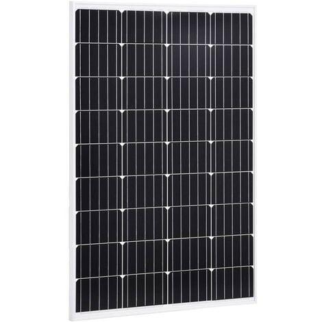 Hommoo Solar Panel 120 W Monocrystalline Aluminium and Safety Glass VD06501