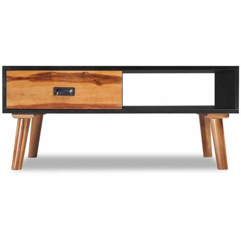 Hommoo Solid Acacia Wood Coffee Table 90x50x40 cm QAH09663