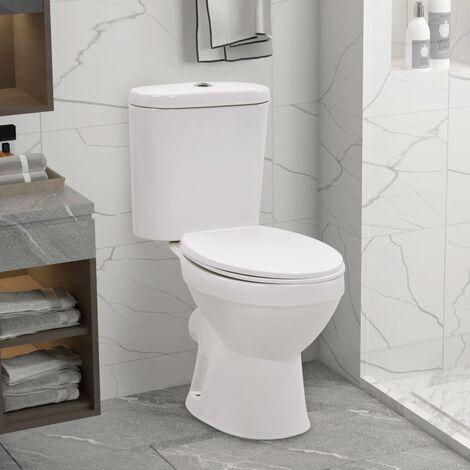 Hommoo Stand-WC mit Spülkasten und Soft-Close-Sitz Keramik Weiß DDH05854