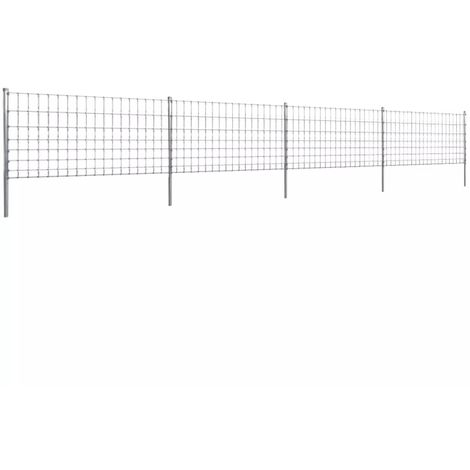 Hommoo Step-In Fence with Posts Zinc-coated Iron 50 m 100/8/15 VD14924