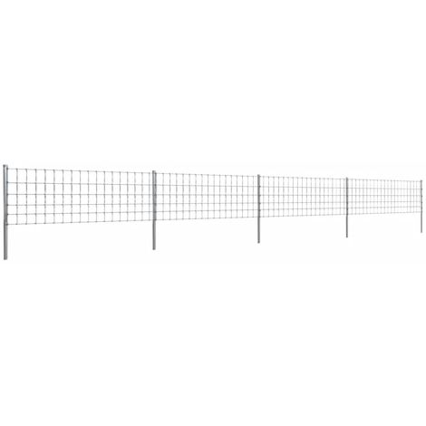 Hommoo Step-In Fence with Posts Zinc-coated Iron 50 m 80/6/15 VD14923