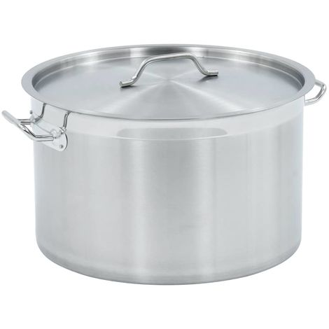 Hommoo Stock Pot 44 L 45x28 cm Stainless Steel