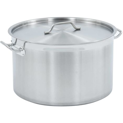 Hommoo Stock Pot 58 L 50x30 cm Stainless Steel