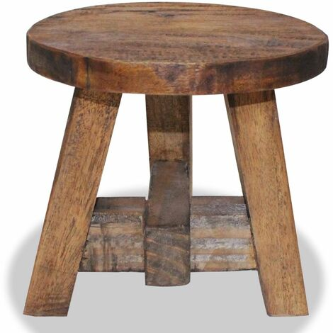 Hommoo Stool Solid Reclaimed Wood QAH10611
