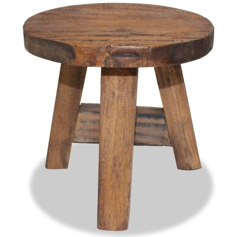 Hommoo Stool Solid Reclaimed Wood VD10611