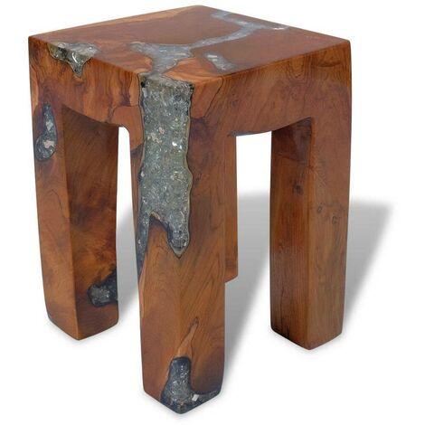 Hommoo Stool Solid Teak Wood and Resin VD09826