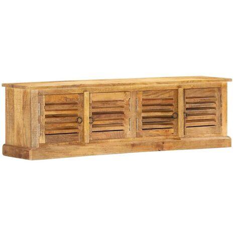 Hommoo Storage Bench 128 cm Solid Mango Wood