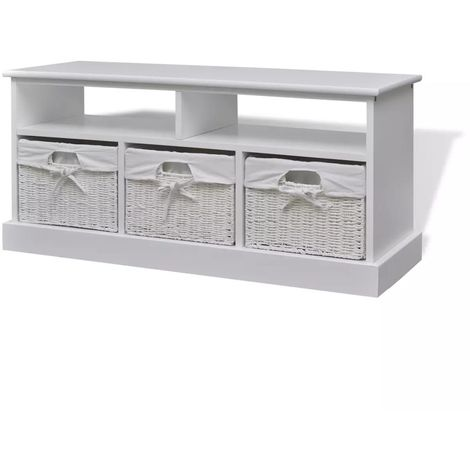 Hommoo Storage Bench Aarau White VD09288