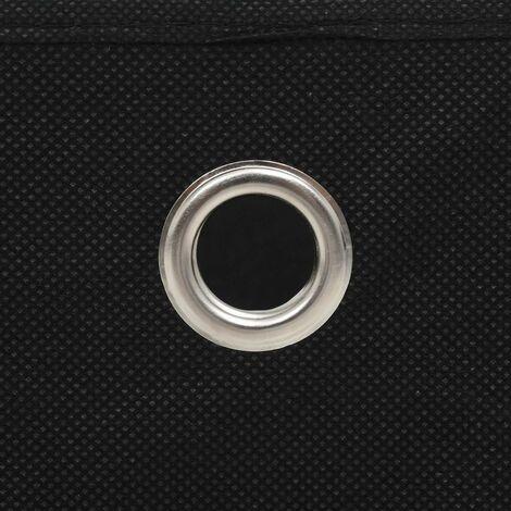 Hommoo Storage Boxes 4 pcs Non-woven Fabric 32x32x32 cm Black QAH11694