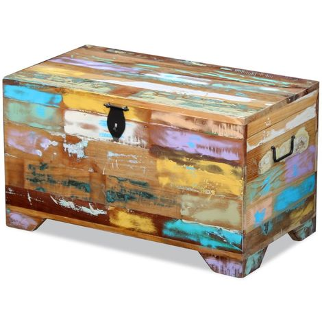 Hommoo Storage Chest Solid Reclaimed Wood