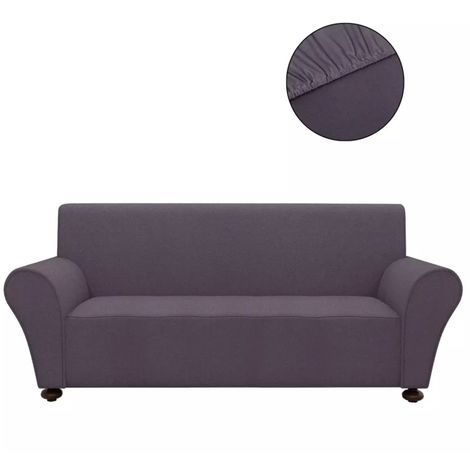 Hommoo Stretch Couch Slipcover Anthracite Polyester Jersey