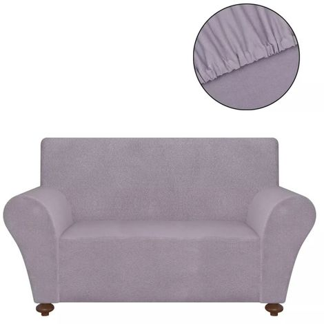 Hommoo Stretch Couch Slipcover Grey Polyester Jersey