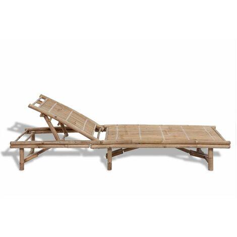 Hommoo Sun Lounger Bamboo QAH26538