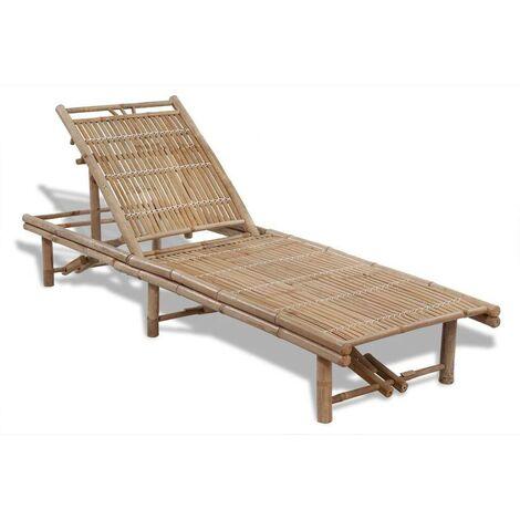 Hommoo Sun Lounger Bamboo VD26538
