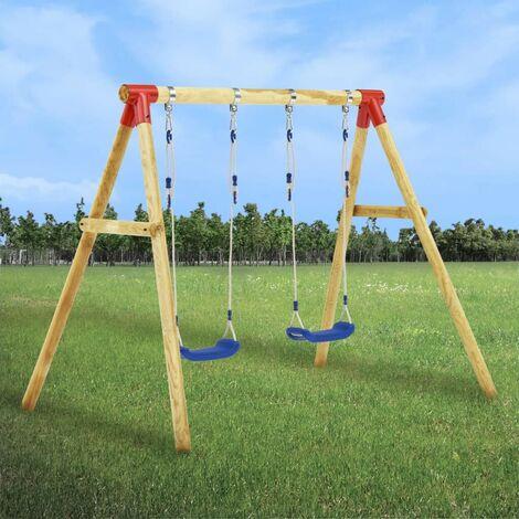 Hommoo Swing Set 230x130x166 cm Pinewood