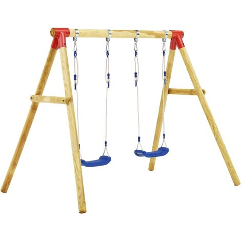 Hommoo Swing Set 230x130x166 cm Pinewood QAH36112
