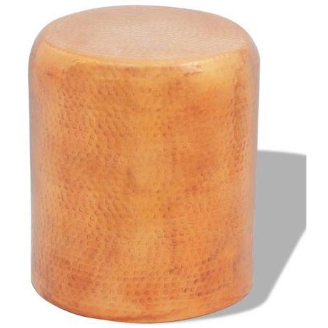 Hommoo Table basse/tabouret martelé en aluminium Couleur laiton/cuivre