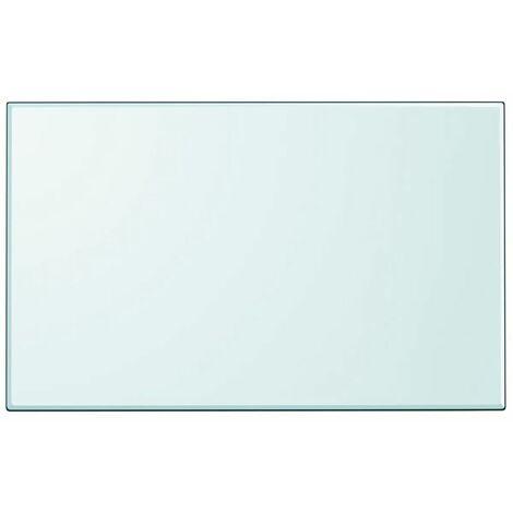 Hommoo Table Top Tempered Glass Rectangular 1000x620 mm QAH09948