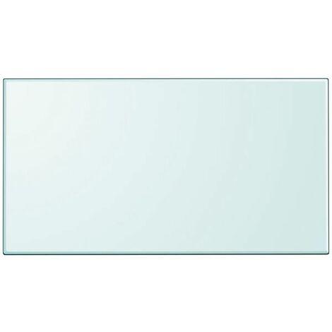 Hommoo Table Top Tempered Glass Rectangular 1200x650 mm QAH09949