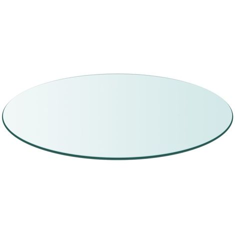 Hommoo Table Top Tempered Glass Round 800 mm