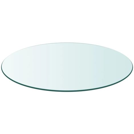 Hommoo Table Top Tempered Glass Round 900 mm