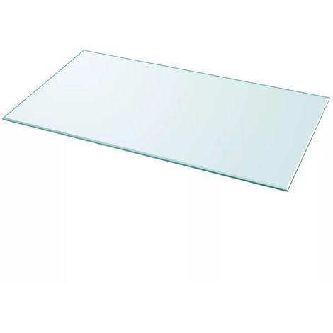 Hommoo Tablero de mesa de cristal templado cuadrado 1200x650 mm