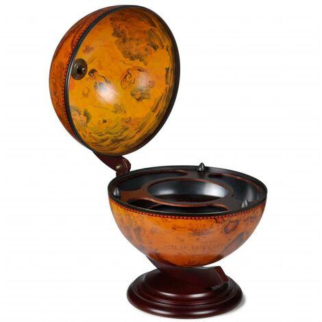 Hommoo Tabletop Globe Bar Wine Stand Wood