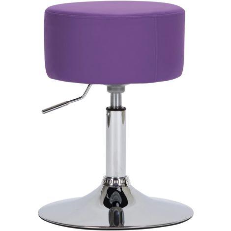 Hommoo Tabouret de bar Violet Similicuir