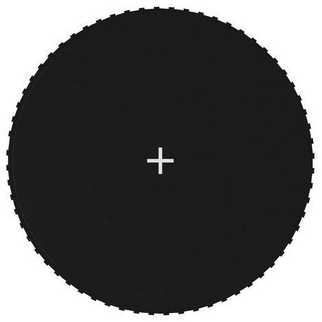 Hommoo Tapis de saut Tissu Noir pour trampoline rond de 3,66 m