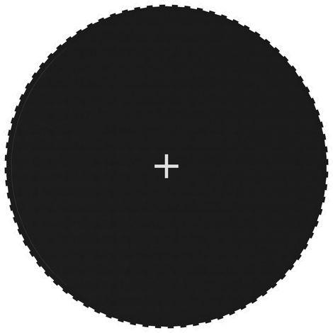 Hommoo Tapis de saut Tissu Noir pour trampoline rond de 4,27 m