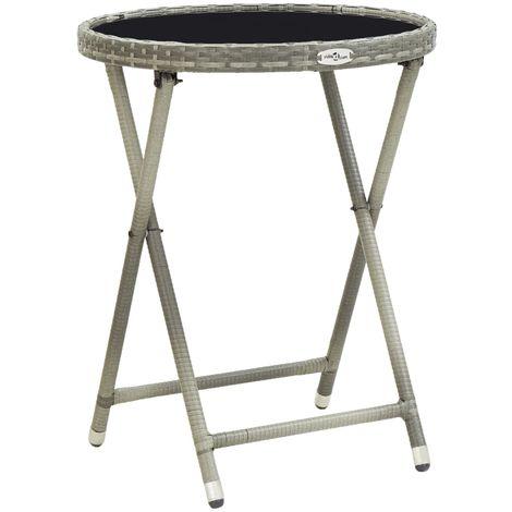 Hommoo Tea Table Grey 60 cm Tempered Glass