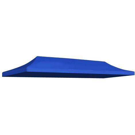 Hommoo Techo de carpa para celebraciones 3x6 m azul