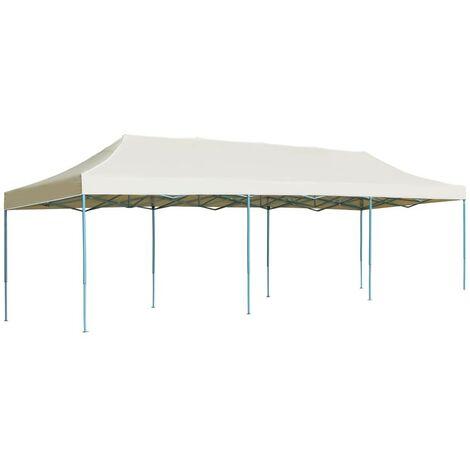 Hommoo Tente de réception pliable 3x9 m Blanc cassé HDV29140