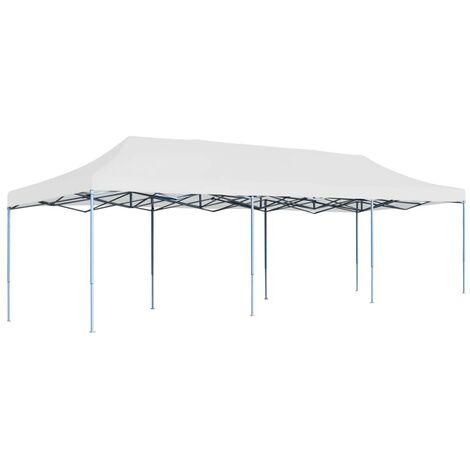 Hommoo Tente de réception pliable 3x9 m Blanc HDV46733
