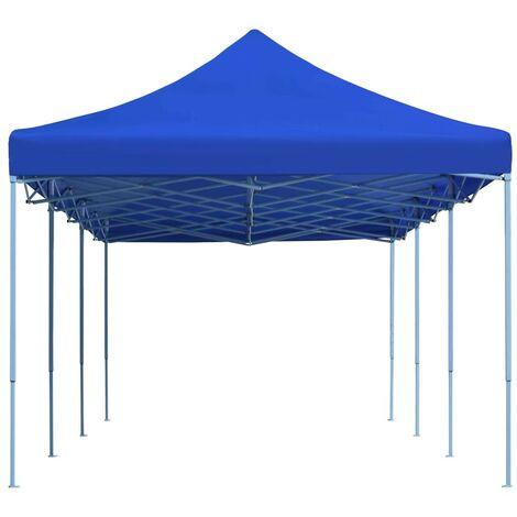 Hommoo Tente de réception pliable 3x9 m Bleu HDV29143