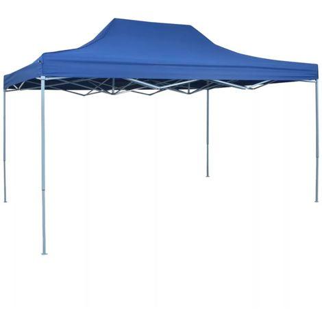Hommoo Tente pliable 3 x 4,5 m Bleu