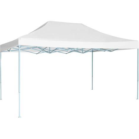 Hommoo Tente pliable de réception 3 x 4,5 m Blanc