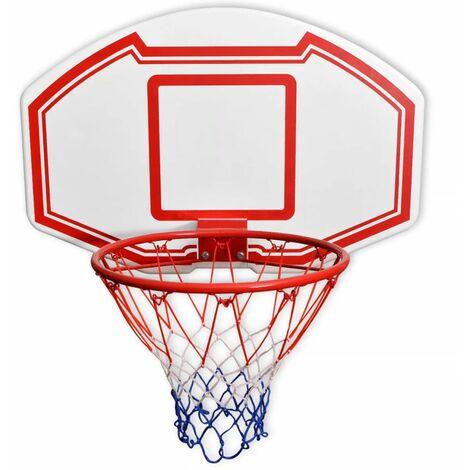 Hommoo Three Piece Wall Mounted Basketball Backboard Set 90x60 cm QAH32332