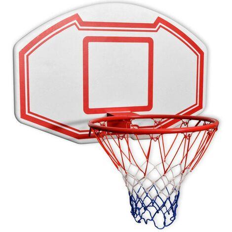 Hommoo Three Piece Wall Mounted Basketball Backboard Set 90x60 cm VD32332