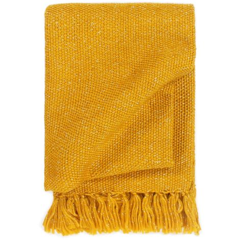 Hommoo Throw Lurex 160x210 cm Mustard Yellow VD02686
