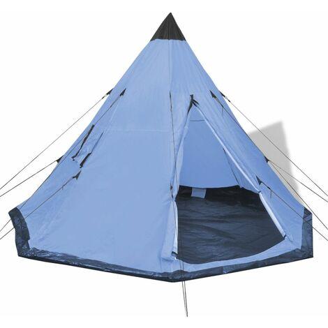 Hommoo Tienda de campaña para 4 personas azul HAXD32239