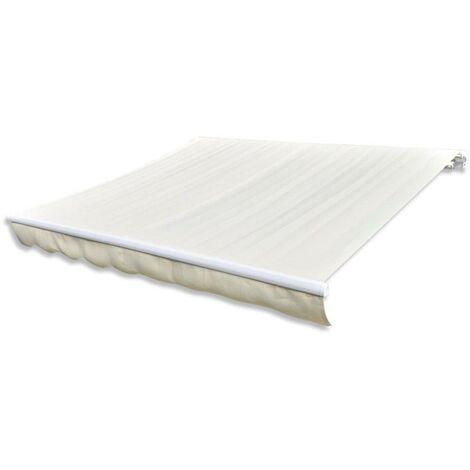 Hommoo Tissu d'auvent Toile Crème 4 x 3 m (cadre non inclus) HDV03783