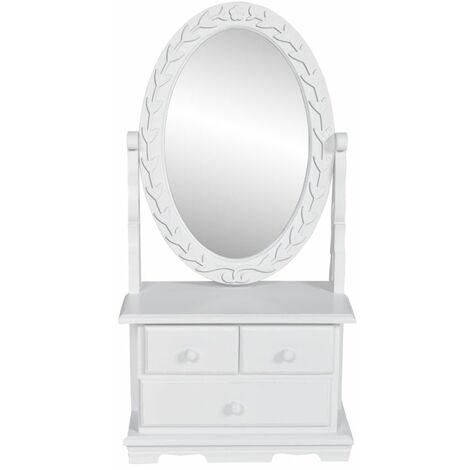 Hommoo Tocador con espejo abatible ovalado de MDF HAXD30943