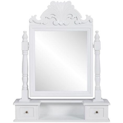 Hommoo Tocador con espejo abatible rectangular de MDF