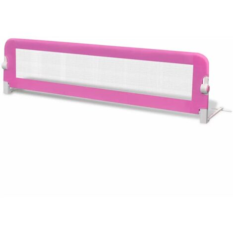 Hommoo Toddler Safety Bed Rail 150 x 42 cm Pink QAH00026